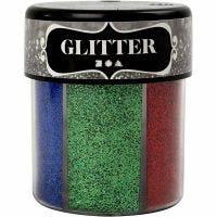 Glitter, ass. farger, 6x13 g/ 1 boks