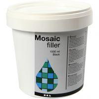 Mosaikkfiller, svart, 1000 ml/ 1 spann