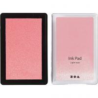 Stempelpute, H: 2 cm, str. 9x6 cm, lys rosa, 1 stk.