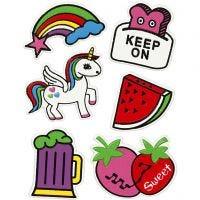 Soft stickers, Keep on, 12,2x17,75 cm, 1 ark