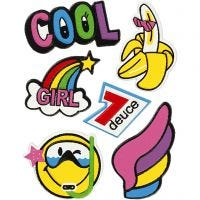 Soft stickers, Cool girl, 12,2x17,75 cm, 1 ark