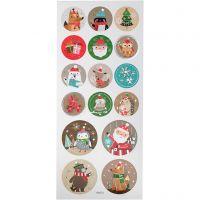 Stickers, jul, 10x23 cm, 1 ark