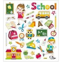 Stickers, Skole, 15x16,5 cm, 1 ark