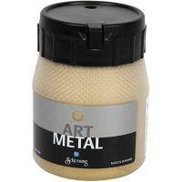 Hobbymaling metallic, lys gull, 250 ml/ 1 fl.