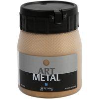 Hobbymaling metallic, mellomgull, 250 ml/ 1 fl.