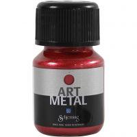 Hobbymaling metallic, lava rød, 30 ml/ 1 fl.