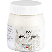 3D Glass gel, elfenben, 250 ml/ 1 boks