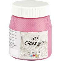 3D Glass gel, pink, 250 ml/ 1 boks