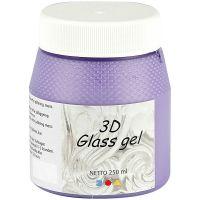 3D Glass gel, syren, 250 ml/ 1 boks