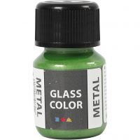 Glass Color Metal, grønn, 30 ml/ 1 fl.