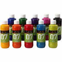 A-Color Glass, ass. farger, 10x250 ml/ 1 kasse