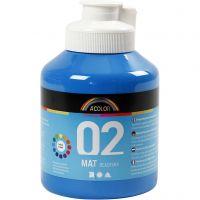 Skole akrylmaling matt, matt, primær blå, 500 ml/ 1 fl.