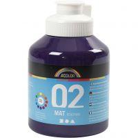 Skole akrylmaling matt, matt, violet, 500 ml/ 1 fl.