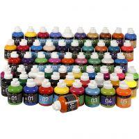 A-Color akrylmaling, ass. farger, 57x500 ml/ 1 pk.