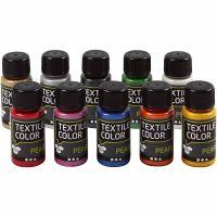Textile Color, perlemor, ass. farger, 10x50 ml/ 1 pk.