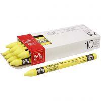 Neocolor I, L: 10 cm, tykkelse 8 mm, lemon yellow (240), 10 stk./ 1 pk.
