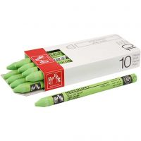 Neocolor I, L: 10 cm, tykkelse 8 mm, yellow green (230), 10 stk./ 1 pk.