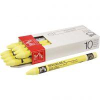 Neocolor II, L: 10 cm, lemon yellow (240), 10 stk./ 1 pk.