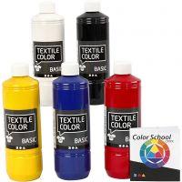 Textil Color, primær farger, 5x500 ml/ 1 pk.