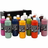Textil Color, ass. farger, 15x500 ml/ 1 pk.