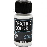 Textil Solid, dekkende, hvit, 50 ml/ 1 fl.