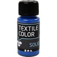 Textil Solid, dekkende, brilliant blå, 50 ml/ 1 fl.