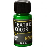 Textil Color, neon grønn, 50 ml/ 1 fl.