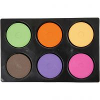 Vannfarge, H: 16 mm, dia. 44 mm, suppl. farger, 1 sett