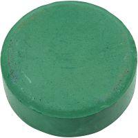 Vannfarge, H: 19 mm, dia. 57 mm, mørk grønn, 6 stk./ 1 pk.