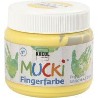Fingermaling, gul, 150 ml/ 1 boks
