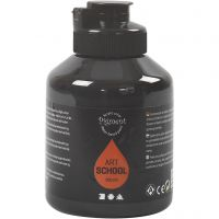 Pigment Art School, dekkende, svart, 500 ml/ 1 fl.