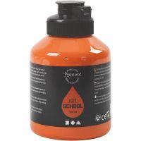 Pigment Art School, semi transparent, orange, 500 ml/ 1 fl.