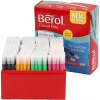 Berol Colourfine, strek 0,3-0,7 mm, ass. farger, 288 stk./ 1 pk.