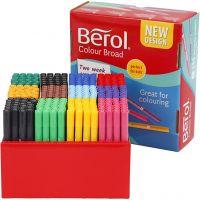 Berol tusj, strek 1-1,7 mm, ass. farger, 288 stk./ 1 pk.