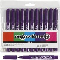 Colortime Tusj, strek 5 mm, lilla, 12 stk./ 1 pk.