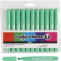 Colortime Tusj, strek 5 mm, lys grønn, 12 stk./ 1 pk.