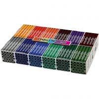 Colortime Tusj, strek 5 mm, suppl. farger, 12x24 stk./ 1 pk.