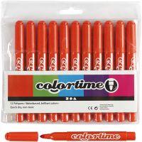 Colortime Tusj, strek 5 mm, mørk orange, 12 stk./ 1 pk.