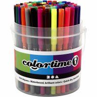 Colortime Tusj, strek 2 mm, ass. farger, 100 stk./ 1 spann