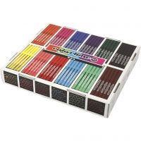 Colortime Tusj, strek 2 mm, ass. farger, 12x24 stk./ 1 pk.