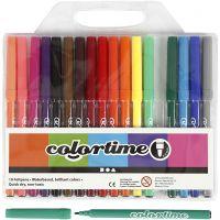 Colortime Tusj, strek 2 mm, ass. farger, 18 stk./ 1 pk.