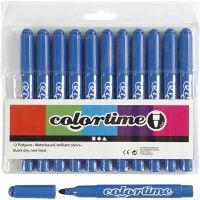 Colortime Tusj, strek 5 mm, Azure, 12 stk./ 1 pk.