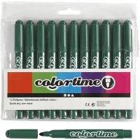 Colortime Tusj, strek 5 mm, grønn, 12 stk./ 1 pk.