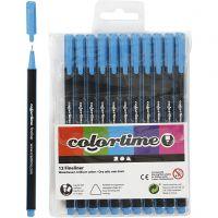 Colortime Fineliner Tusj, strek 0,6-0,7 mm, lys blå, 12 stk./ 1 pk.