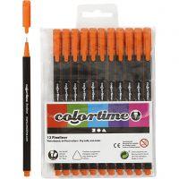 Colortime Fineliner Tusj, strek 0,6-0,7 mm, orange, 12 stk./ 1 pk.