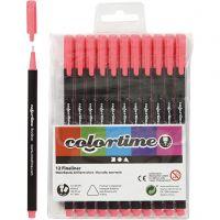 Colortime Fineliner Tusj, strek 0,6-0,7 mm, pink, 12 stk./ 1 pk.