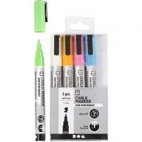 Kritt tusj, strek 1,2-3 mm, sterke farger, 5 stk./ 1 pk.
