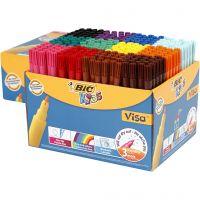 Visa Fin tusj , strek 1,6 mm, ass. farger, 12x24 stk./ 1 pk.