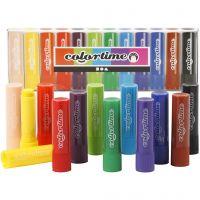 Soft Color Stick, L: 8 cm, ass. farger, 12 stk./ 1 pk.