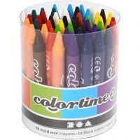 Colortime fargekritt, L: 10 cm, tykkelse 11 mm, ass. farger, 48 stk./ 1 pk.